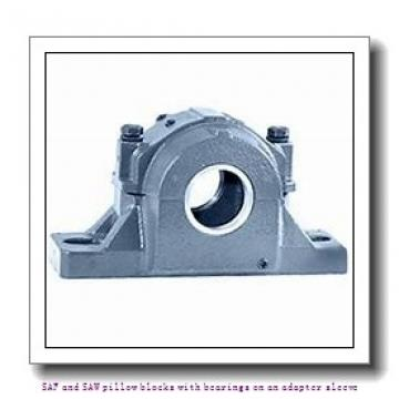 skf FSAF 22518 x 3.1/16 SAF and SAW pillow blocks with bearings on an adapter sleeve