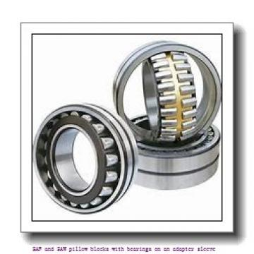 skf FSAF 1516 x 2.5/8 T SAF and SAW pillow blocks with bearings on an adapter sleeve