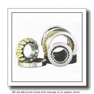 skf SAF 1622 x 3.13/16 SAF and SAW pillow blocks with bearings on an adapter sleeve