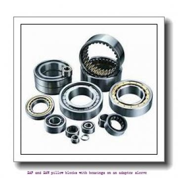 skf FSAF 1518 x 3.1/8 SAF and SAW pillow blocks with bearings on an adapter sleeve
