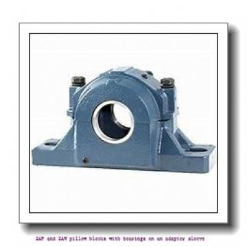skf SAFS 22530 x 5.5/16 SAF and SAW pillow blocks with bearings on an adapter sleeve