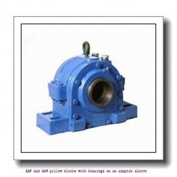 skf SAF 1615 x 2.3/8 SAF and SAW pillow blocks with bearings on an adapter sleeve