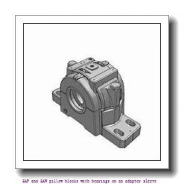 skf SAF 1620 x 3.5/16 SAF and SAW pillow blocks with bearings on an adapter sleeve