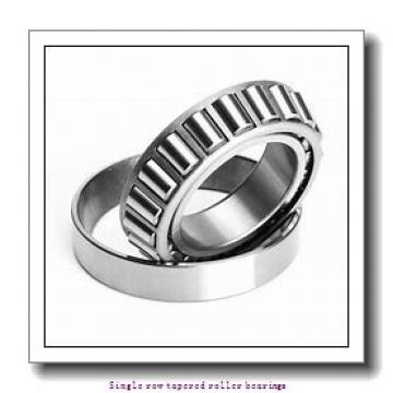 100 mm x 165 mm x 46 mm  skf T2EE 100 Single row tapered roller bearings