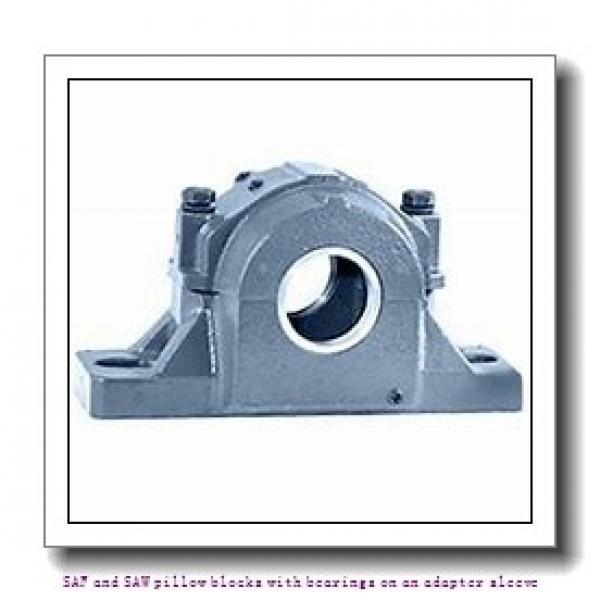 skf SAF 23028 KAT x 5 SAF and SAW pillow blocks with bearings on an adapter sleeve #2 image