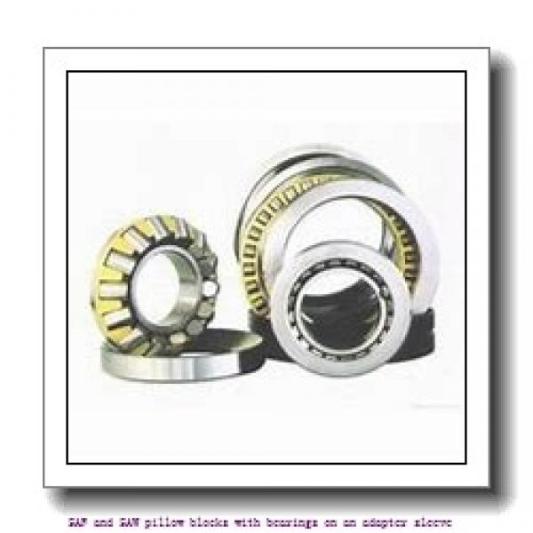 skf SAF 1622 x 3.13/16 SAF and SAW pillow blocks with bearings on an adapter sleeve #2 image